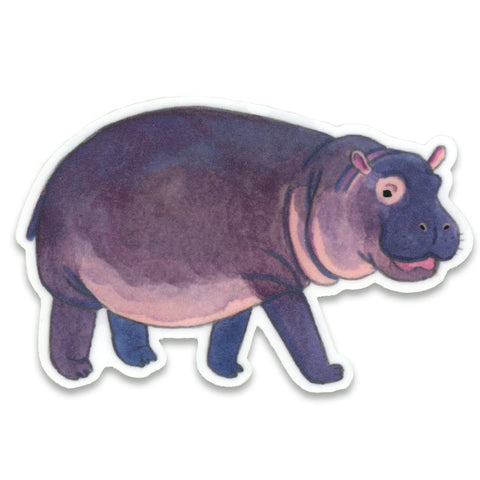 Hippo Sticker