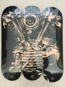 Knucklehead skate deck series