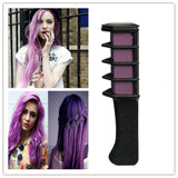 6 PACK TEMPORARY HAIR DYE CHALK COMBS