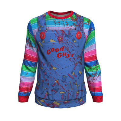 Chucky style All over printed sweater
