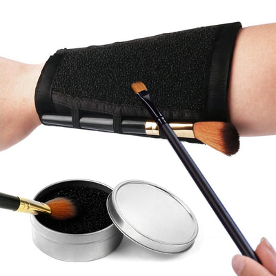 Armband Makeup Brush Cleaner and Sponge