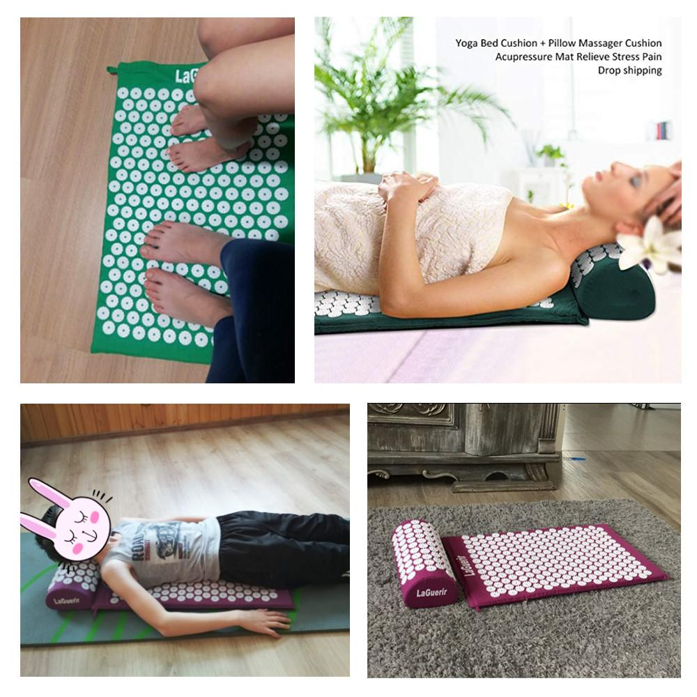Massage & Relaxation - Acupressure Massage Yoga Mat & Pillow