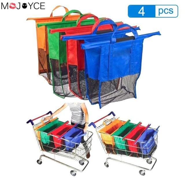Shopping Bags - Eco-Friendly Reusable Supermarket Cart Bags
