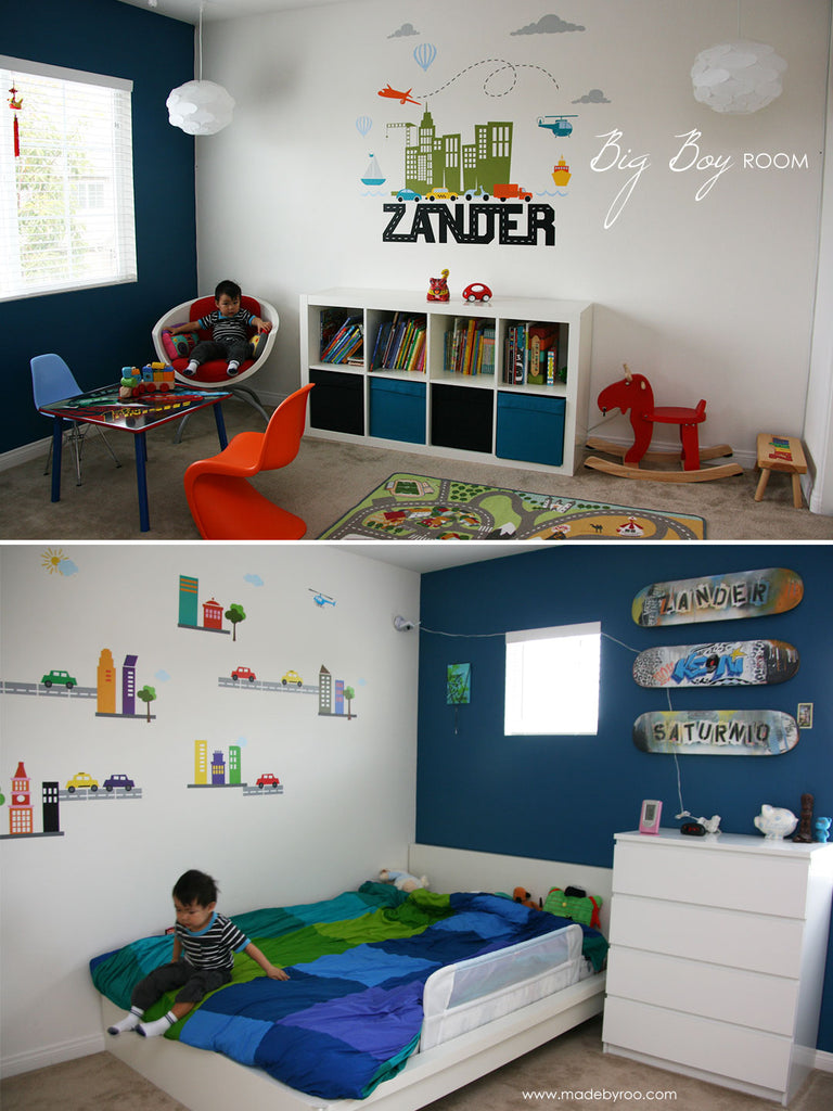 Transportation Theme Boys' Room Ideas