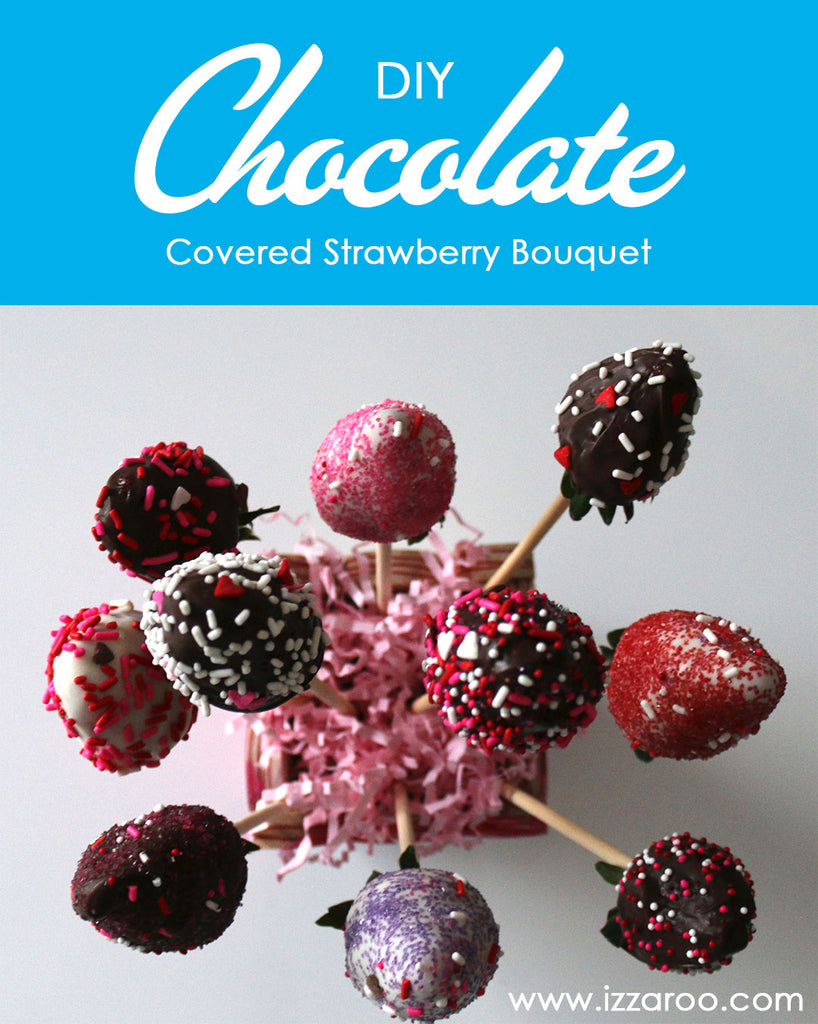 DIY Tutorial - Chocolate Covered Strawberries Bouquet