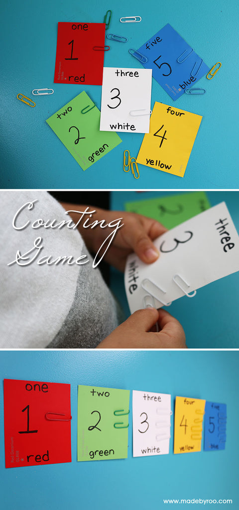 DIY Tutorial - Kids Counting and Color Matching Game