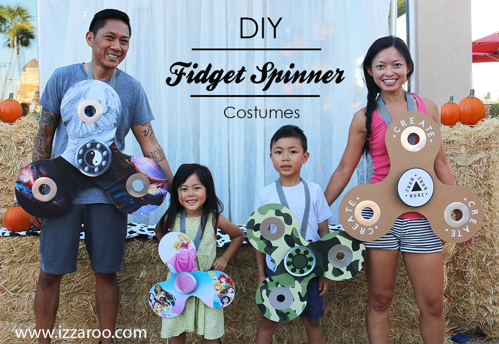 Halloween 2017 - DIY Video Tutorial - How to Make a Fidget Spinner Costume - Includes FREE Pattern
