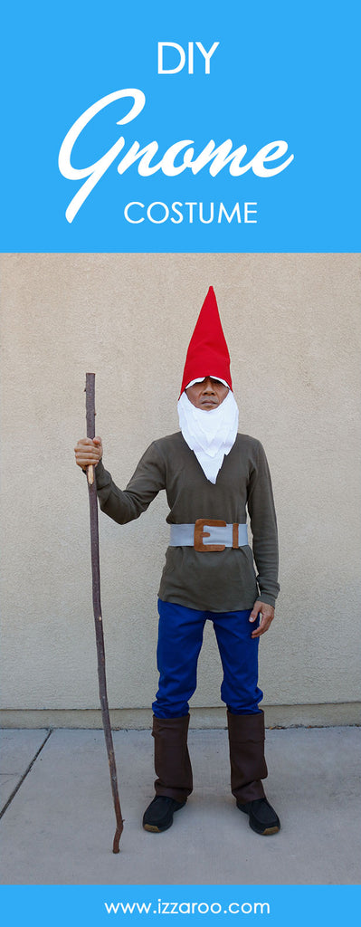 DIY Tutorial - How to Make a Gnome Halloween Costume