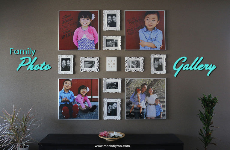 DIY Tutorial - Family Photo Wall Collage