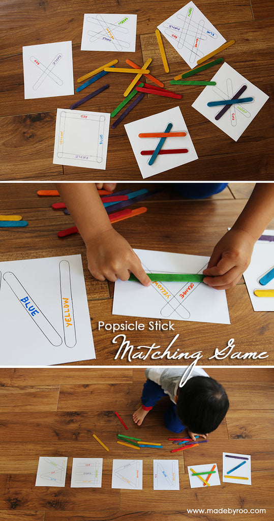 DIY Tutorial - Kids Popsicle Stick Color Matching Game