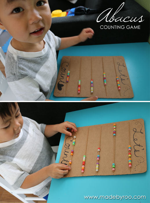 DIY Tutorial - Kids Cardboard Toy Abacus