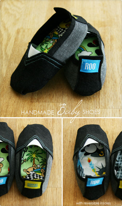 DIY Tutorial - Baby Tom's Style Shoes With Reversible Insole (with pattern)