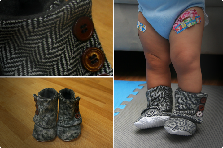 DIY Tutorial - Baby Boots Lined with Fleece (with pattern)