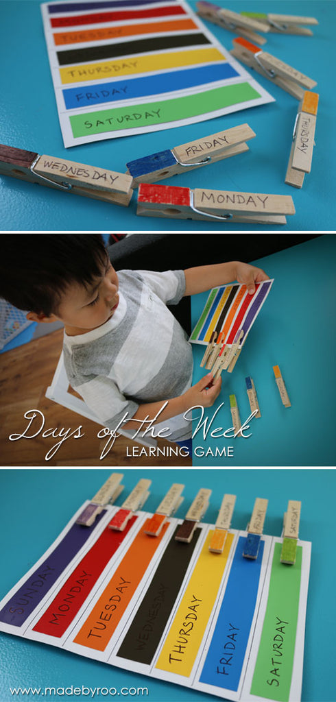 DIY Tutorial - Day of the Week Learning Game For Kids