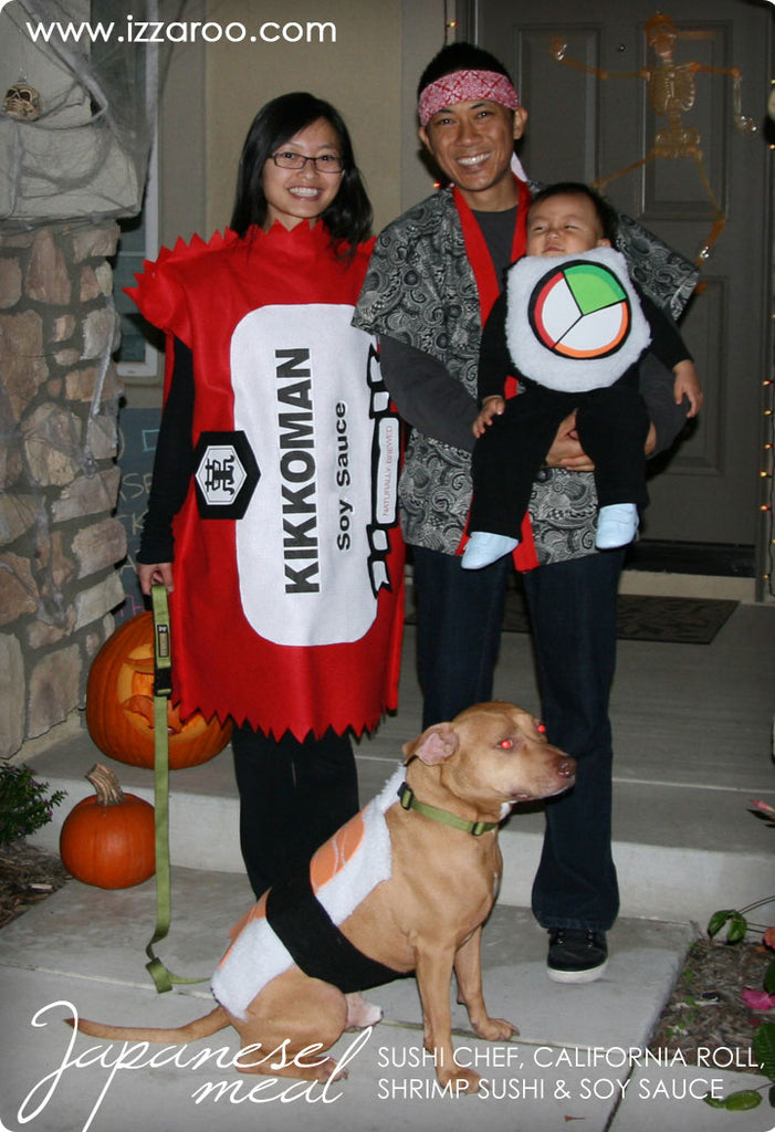 Halloween 2011 - DIY Tutorials - Japanese Meal Themed Family Halloween Costumes