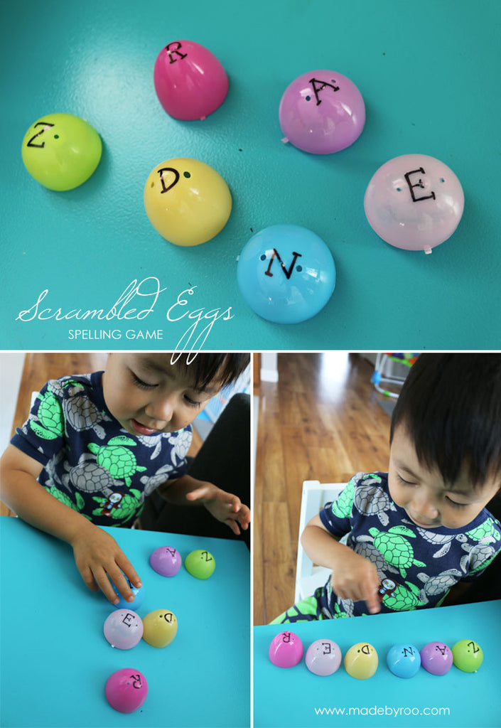 DIY Tutorial - Kids Spelling Game Using Recycled Easter Eggs