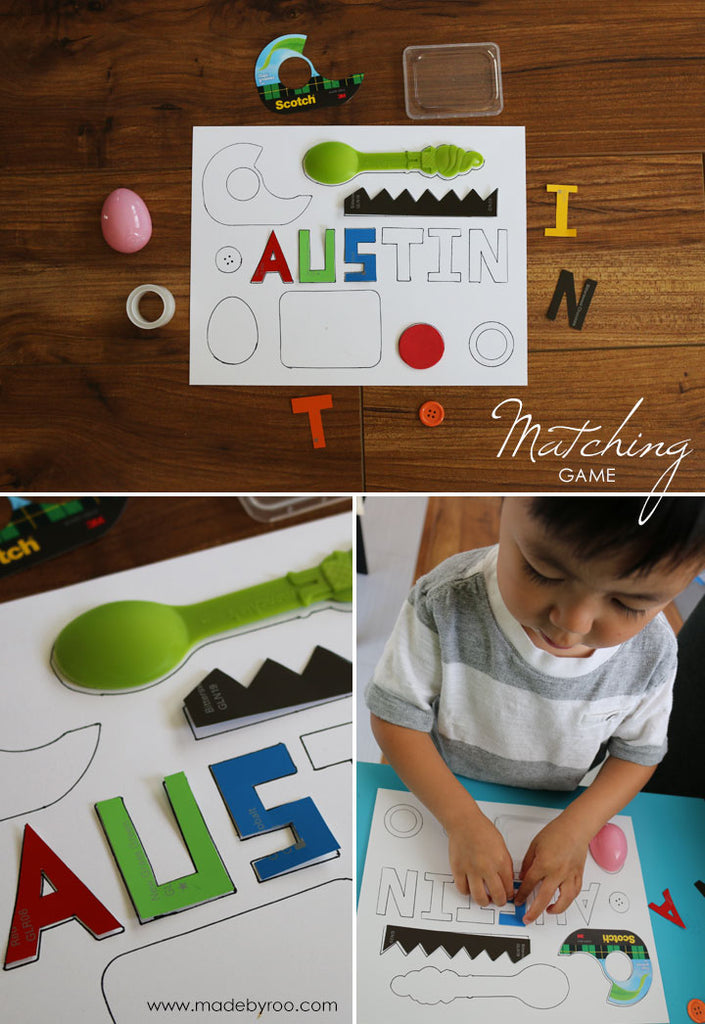 DIY Tutorial - Kids' Shape Matching Game
