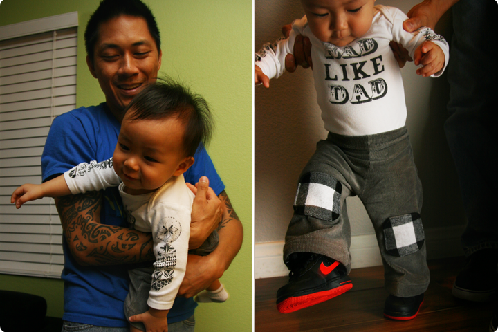 DIY Tutorial - Screen Printed Kids T-Shirts and Pants with Kneepads