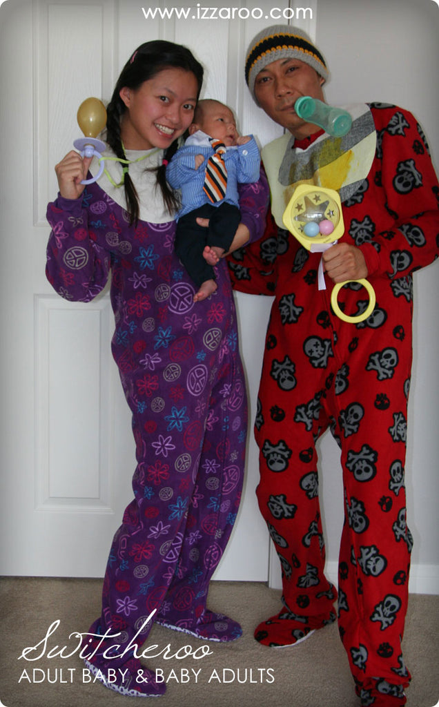 Halloween 2010 - DIY Tutorials -  Adult and Baby Switcheroo Themed Family Halloween Costumes