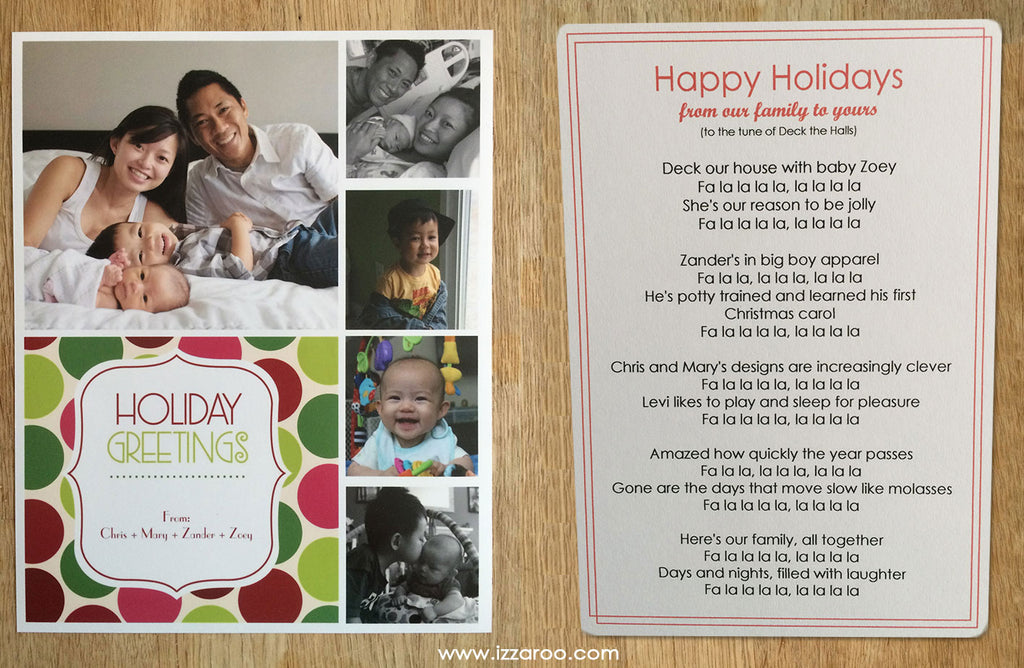 IZZAROO - DIY Holiday Card Ideas