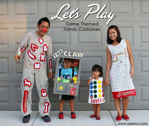 IZZAROO - DIY Game Themed Family Halloween Costumes Tutorials