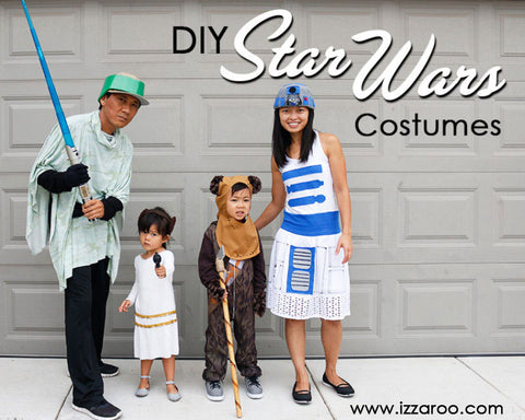 IZZAROO - DIY Star Wars Themed Family Halloween Costumes Tutorials