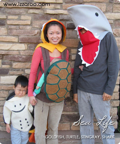 IZZAROO - DIY Sea Life Themed Family Halloween Costumes