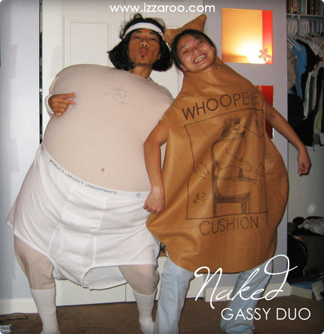 IZZAROO - DIY Gassy Duo Themed Halloween Costumes Tutorials