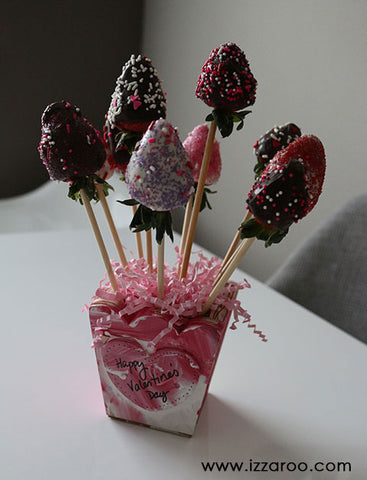 Diy Tutorial Chocolate Covered Strawberries Bouquet Izzaroo