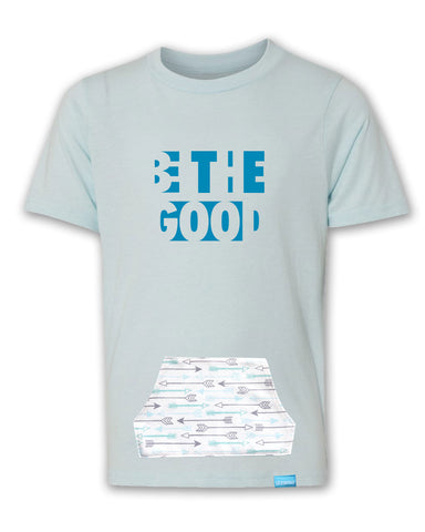 Be The Good - Icy Blue - Boy's T-Shirt with Pocket