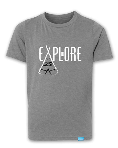 Explore More - Heather Grey - Boy's T-Shirt