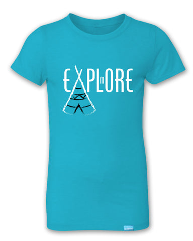 Explore More - Bondi Blue - Girl's T-Shirt