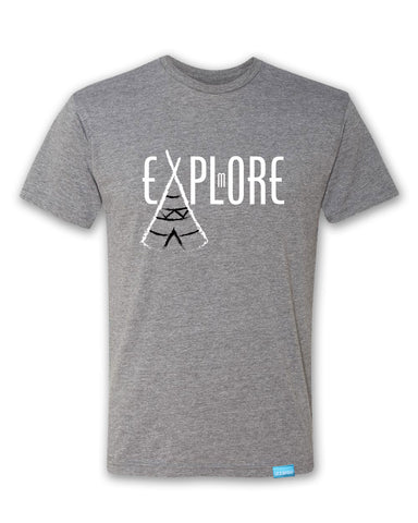Explore More - Heather Grey - Men's T-Shirt