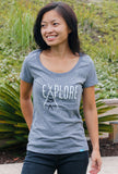 Explore More - Heather Grey - Women's T-Shirt