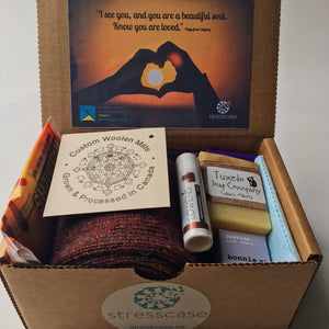 Sponsor an SOS Winter Warmth Self-Care Kit | Stresscase