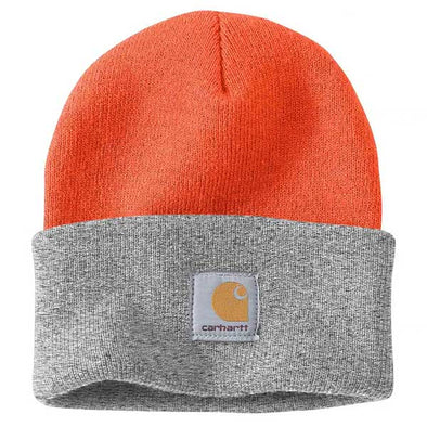 Carhartt Arcylic Watch A18 Beanie Bright Orange/Heather Grey