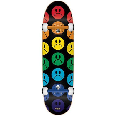enjoi Frowny Face Cruiser Skateboard Multi 8.75