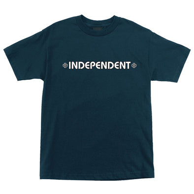 Independent Bar/Cross Regular S/S T-Shirt Harbor Blue