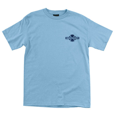 Independent Cross Fill Regular S/S T-Shirt Light Blue