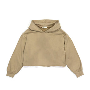 XB Women's Jayden French Terry Hood Top Taupe