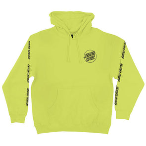 Santa Cruz Opus Dot Sleeve Pullover Hooded Sweatshirt Safety Yellow