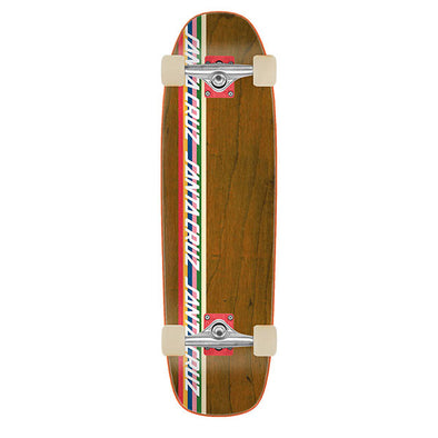 Santa Cruz Stripe Strip Cruzer Brown 8.4