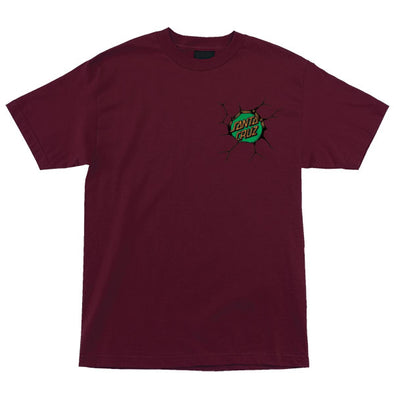 Santa Cruz TMNT Bebop and Rocksteady S/S T-Shirt Burgundy
