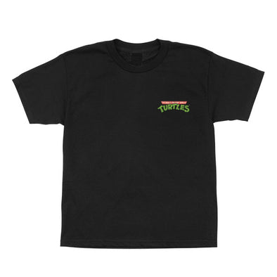 Santa Cruz Youth TMNT Pizza Dot S/S T-Shirt Black