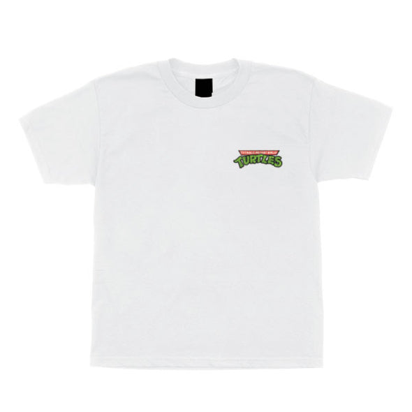 Santa Cruz Youth TMNT Pizza Dot S/S T-Shirt White