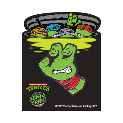 Santa Cruz TMNT Turtle Hand Pin Green