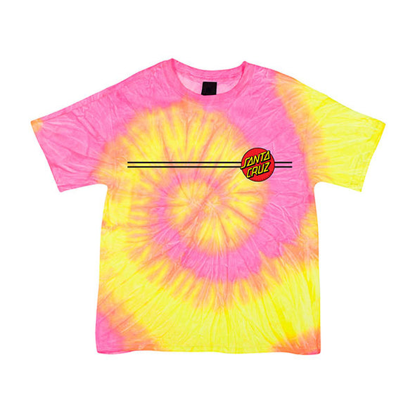 Santa Cruz Youth Classic Dot Regular S/S T-Shirt Fluorescent Swirl