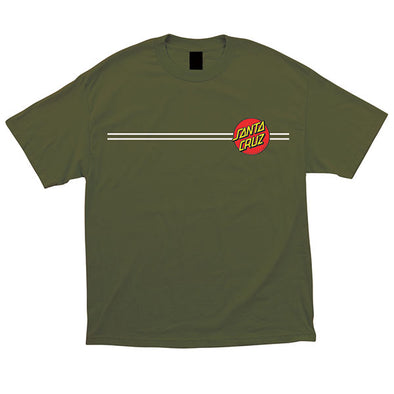 Santa Cruz Youth Classic Dot Regular S/S T-Shirt Military Green
