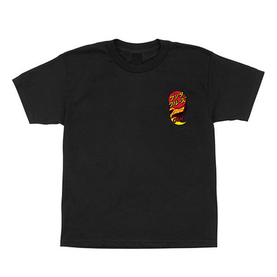 Santa Cruz Youth Group Dot Regular S/S T-Shirt Black