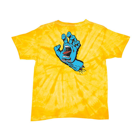 Santa Cruz Youth Screaming Hand Regular S/S T-Shirt Spider Gold